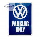 "Blechschild ""VW Parking only"" 30 x 40 cm"